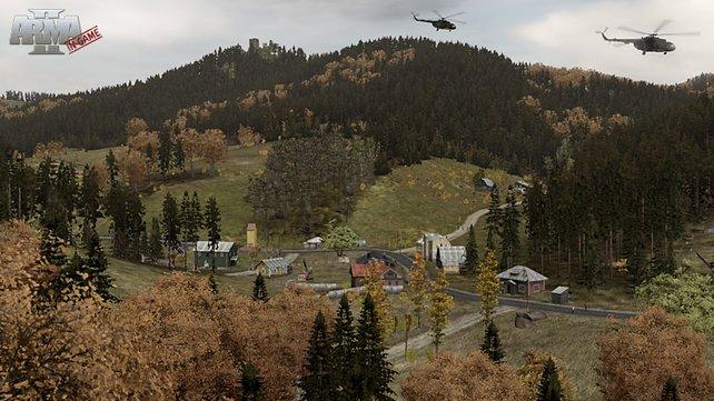 Riesige Schlachtfelder: Arma 2 erstreckt sich auf 225 Quadratkilometer.