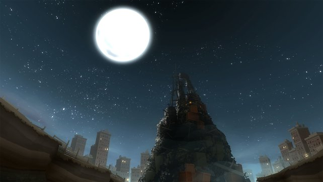Der Berg muss wachsen, damit die Rabbids zum Mond können.