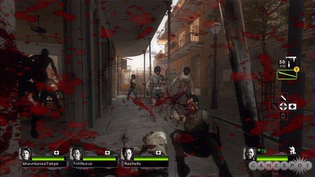 Zusammen gegen die Zombie-Brut in Left 4 Dead 2.