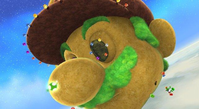 Was für ein Dickschädel! Mario XXL ersetzt die Hub-Welt des Vorgängers.