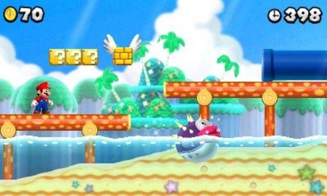 Auch tropische Inseln sind nicht vor Mario sicher.