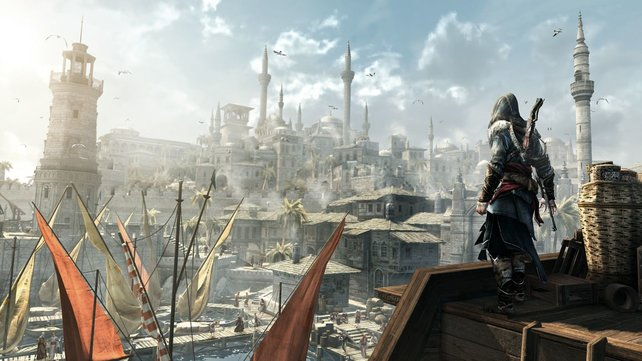 Konstantinopel sieht hervorragend aus - zahlreiche Türme ragen in die Luft.