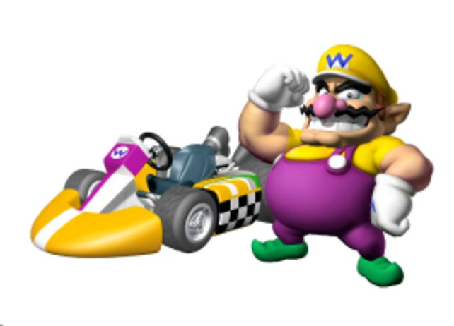 Diesen Schlitten fährt Wario bei seiner Mario-Kart-Premiere noch nicht.