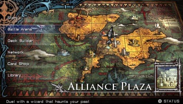Wählt die Kampfarena aus, um der Story zu entgehen und den Multiplayer zu genießen.