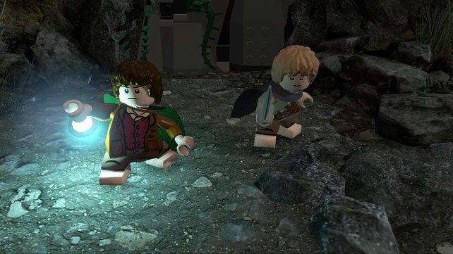 Echte Freundschaft: Sam und Frodo erkunden gemeinsam eine finstere Höhle.