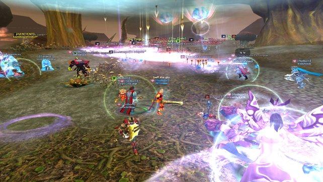 Die PvP-Schlachten sind ein wahres Effekt-Feuerwerk.