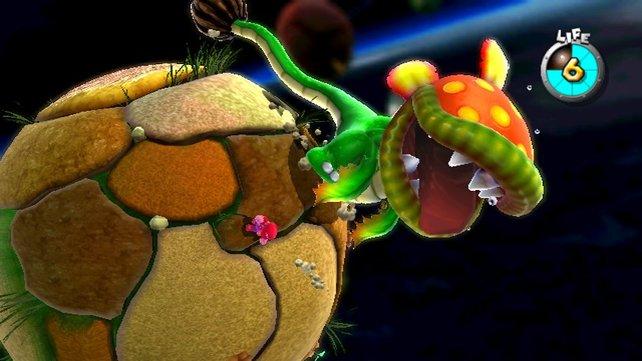 Dino-Piranha ist der erste Bossgegner