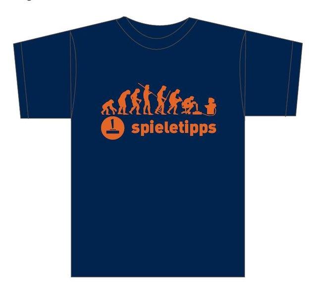 Auf 100 Stück limitiertes spieletipps-Shirt