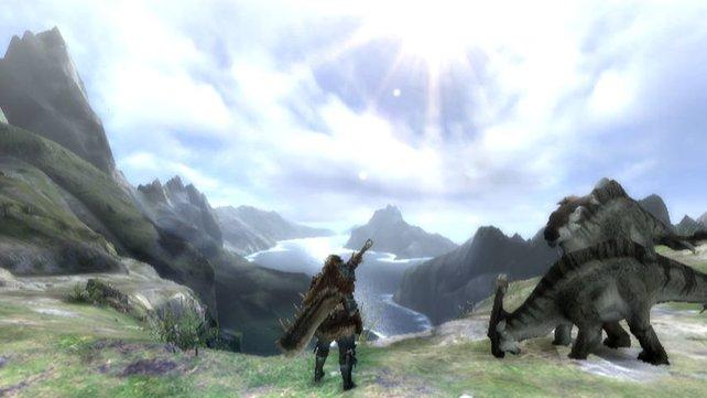 Was für romantische Jäger: Einfach mal stehen bleiben und die Landschaft genießen.