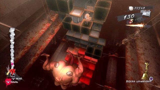 Bizarre Monster-Bosse bedrohen Vincent auf seinem Weg nach oben.