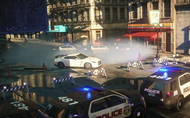 Die Polizei mischt erneut munter mit.