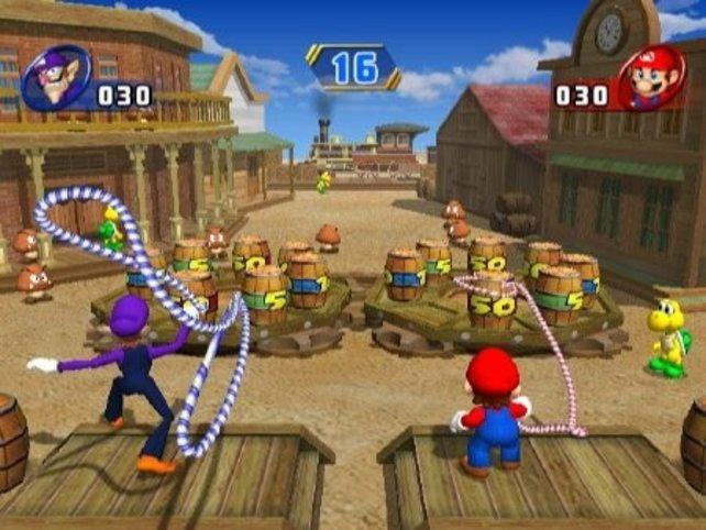 Lassowerfen nutzt komplett die neue Steuerung per Wiimote