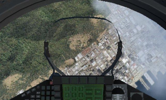 Ihr könnt das Spiel auch aus der Cockpit-Perspektive genießen. Die bringt den 3D-Effekt besser zur Geltung.
