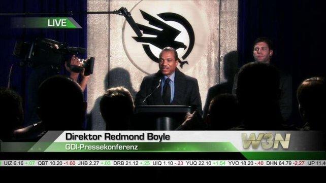 Director Boyle, der neue Anführer der GDI.