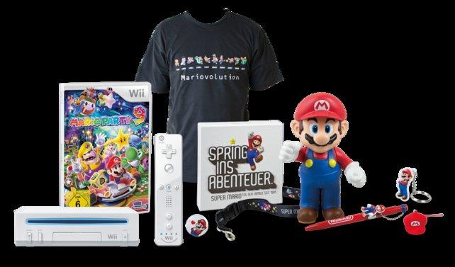 Gewinnt unter anderem ein großes Nintendo-Paket mit Wii-Konsole, Mario-Party-9-Spiel und viel coolem Merchandise.