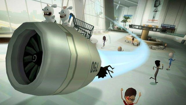 Mit der Turbine geht es quer durch einen Flughafen - Speed ist garantiert!