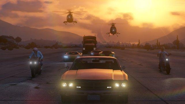Bis zu 16 Spieler erkunden die Spielwelt von GTA Online gleichzeitig.