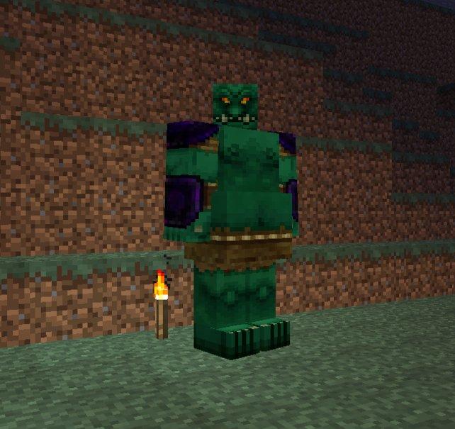 """Dank """"Mo' Creatures"""" hat auch Reiner Calmund einen Gastauftritt in Minecraft."""
