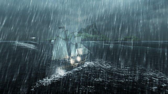 Sturm in der Karibik, als Pirat müsst ihr auf alles gefasst sein.