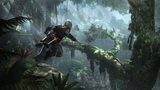 Im Dschungel kann Edward ein wenig Tarzan spielen.