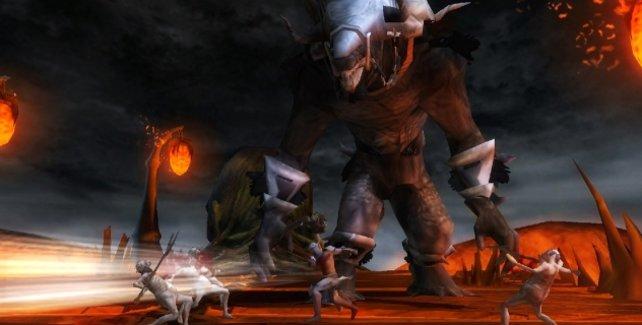 Größer geht´s nicht: In den Tiefen der Hölle müsst ihr euch Giganten stellen.