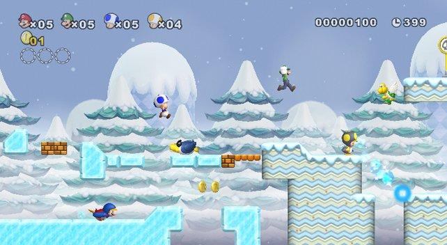 Mario hat den Weg in kalte Gefilde gefunden.