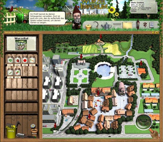 Wurzeltal - die Stadt im Browserspiel Wurzelimperium.