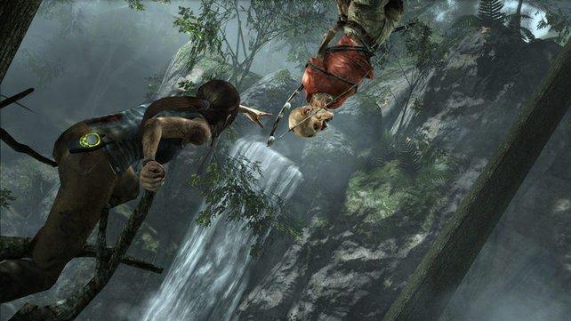 Lara nimmt selbst von den Toten. Sie braucht den Bogen.