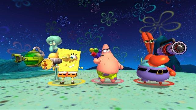 Robotischer Krawall in Bikini Bottom? Nicht mit uns! Spongebob und Freunde stellen sich zum Kampf!