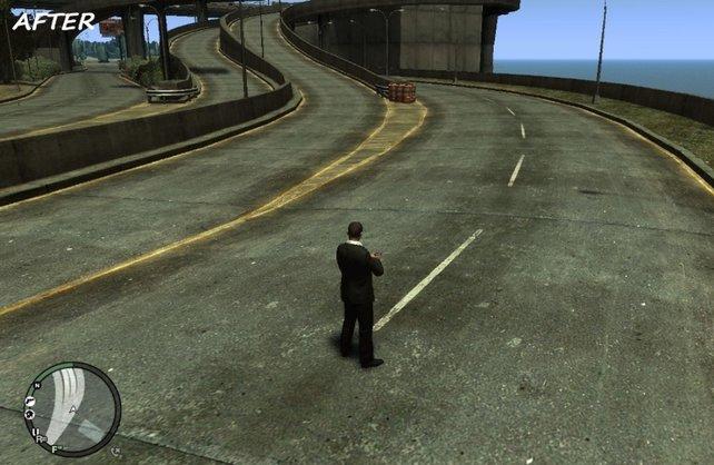 Mit neuen Texturen sieht GTA 4 detailreicher und schärfer aus.