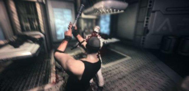 Schwing das Rohr: Riddick hat keinen Zugang zu den großen Geschützen und muss mit Fäusten kämpfen.