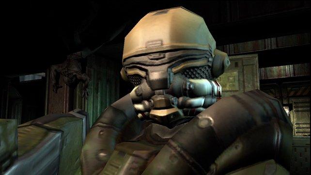 Lost Missions: Überall lauern Feinde. So wie hier hinten an der Wand ein sogenannte Imp.