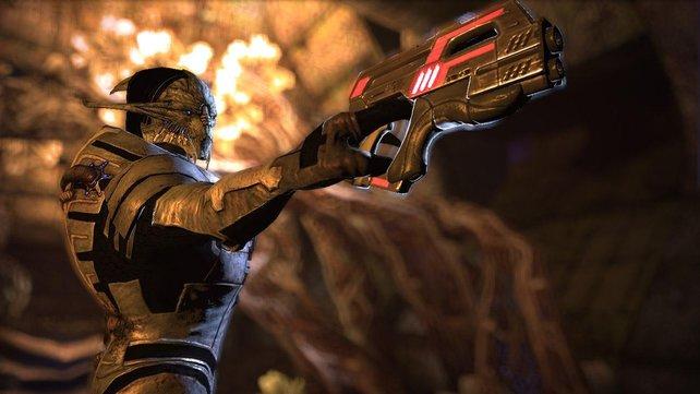 In Mass Effect 3 stellt ihr wieder eine eigene Weltraum-Mannschaft zusammen - inklusive Außerirdischer.