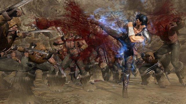 Ihr kämpft euch erneut mit Kenshiro durch Gegnerhorden.