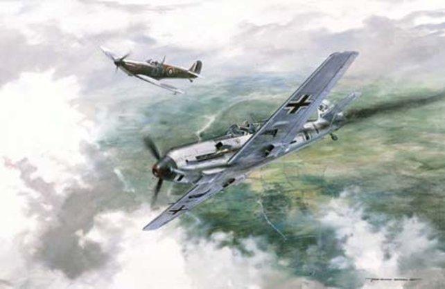 Der ewige Luftkampf: Spuckfeuer gegen Messer-Schmied