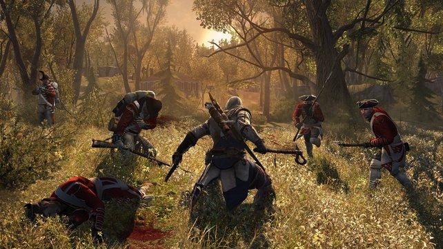 Manches Mal erinnert das Spiel an Filme wie The Patriot oder Braveheart.