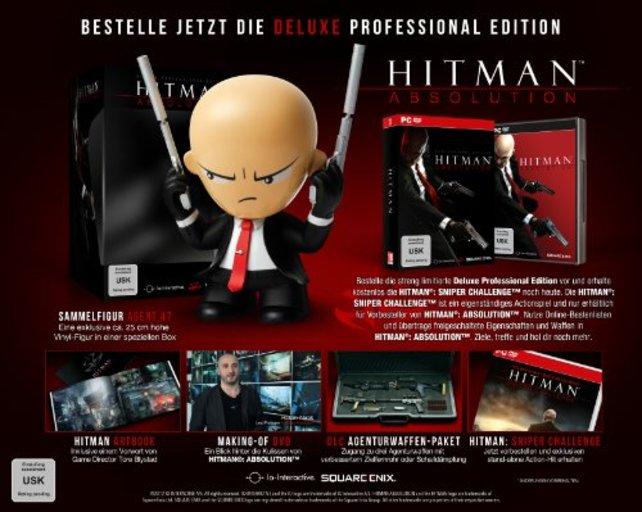 Nur in der Professional Deluxe Edition bekommt ihr die Riesenfigur von Agent 47.
