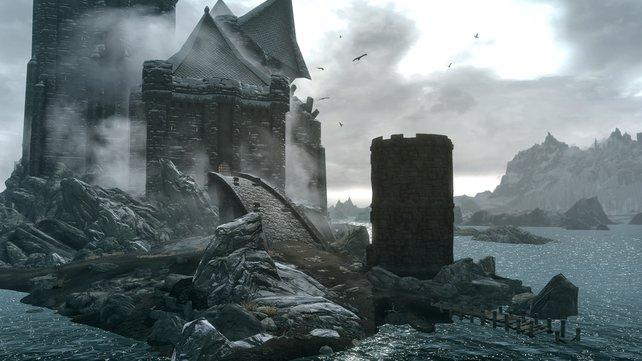Schloss Volkihar sieht nicht gerade einladend aus.