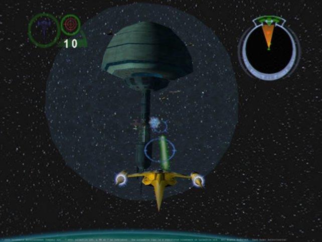 Im Anflug auf die Raumstation