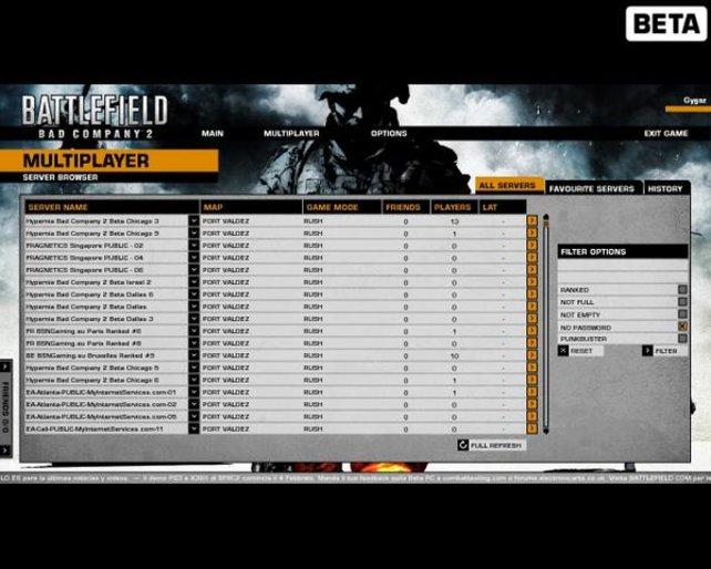 Der Game-Browser bringt das Spiel gelegentlich zum Abstürzen.