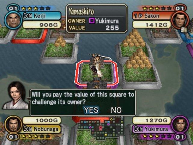 """Hier ein Screenshot aus dem grafisch sehr anspruchsvollen Minispiel """"Sugoroku"""""""