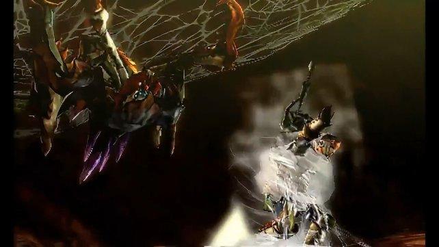 Der spinnt wohl? Dieser große Neopteron fesselt unseren Helden wie einen Rollbraten.