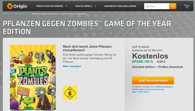 EA verschenkt Pflanzen gegen Zombies