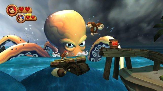 Dieser Kraken macht uns in der zweiten Welt das Leben schwer.