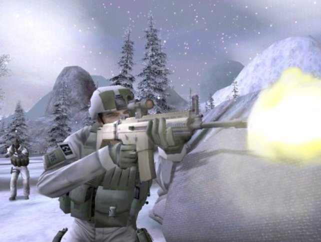 Feuergefecht im Schneesturm