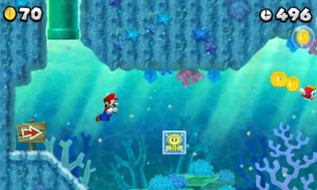 Auch unter Wasser ist der Klempner aktiv.