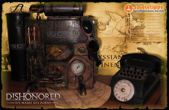 Gewinnt eine exklusive PS3 im Steampunk-Stil (das Telefon ist nur Dekoration und nicht im Preis enthalten).