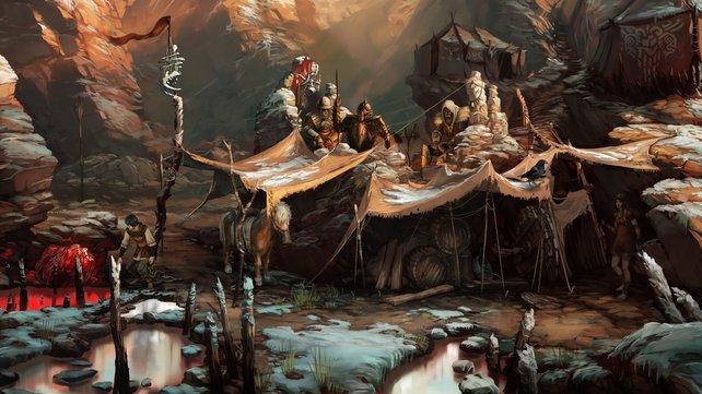 Geron will die Orks aus ihrem Lager schnell vertreiben. Aber wie stellt er das am geschicktesten an?