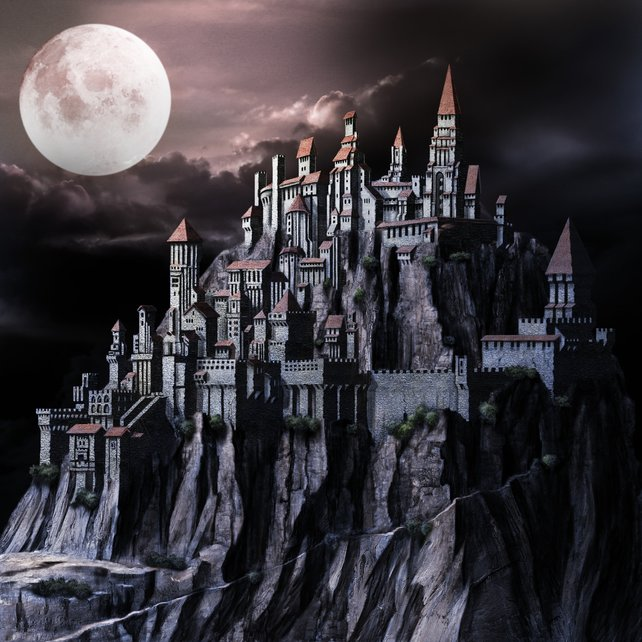 Die mächtige Festung einer Allianz. Düstere Romantik.