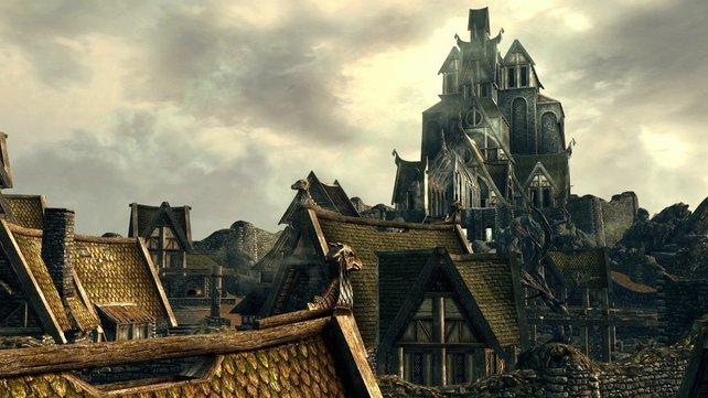 Die Stadt Weißlauf ist eine riesige Anspielung auf die Herr-der-Ringe-Stadt Minas Tirith.